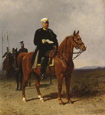Otto von Bismarck, Reiterbildnis / Gemälde von E. Volkers von AKG  Images