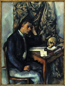 Cezanne / Young man with skull /  c. 1896 by AKG  Images