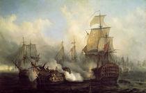 Schlachtschiff Redoutable / Gemälde Mayer von AKG  Images