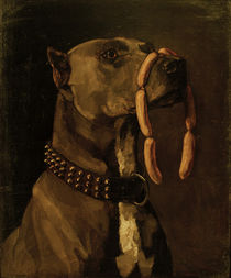 W.Trübner, Great Dane with Sausages by AKG  Images
