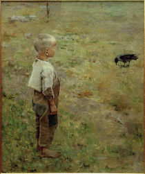 A.Gallen-Kallela, Boy and Crow / 1884 by AKG  Images