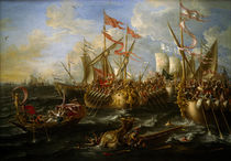 L.A. Castro / Battle of Actium. by AKG  Images