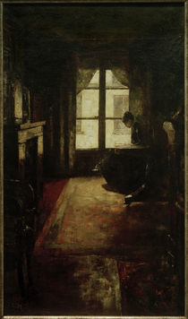 L.Ury, Pariser Interieur (lesende Frau am Fenster) von AKG  Images