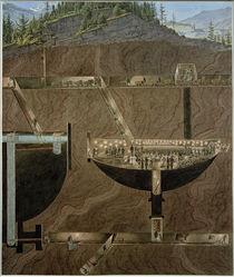 Hallein, Salzbergwerk / Aquarell von E. Gurk by AKG  Images