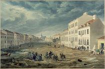 Wien, Hochwasser 1830, Jägerzeile / Aquarell von E. Gurk von AKG  Images