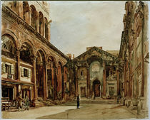 Split, Diokletianpalast / Aquarell von R. von Alt by AKG  Images
