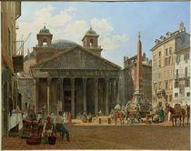 Rom, Pantheon / Aquarell von J. Alt von AKG  Images