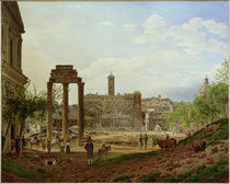 Rom, Forum Romanum / Aquarell von J. Alt von AKG  Images