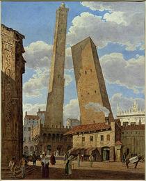 Bologna, Torre Asinelli und Torre Garisenda /  Aquarell von Jakob Alt von AKG  Images
