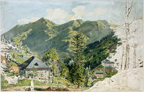 Bad Gastein, Ansicht mit Gamskarkogel  / Aquarell von R. von Alt von AKG  Images