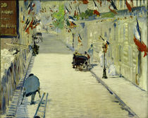 E.Manet, Rue Mosnier with flags by AKG  Images