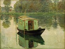 Monet / The Studio Boat / Painting by AKG  Images