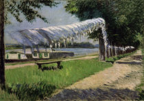 Caillebotte / Drying Laundry along Seine by AKG  Images