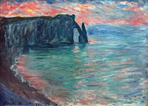 Monet / Cliffs of Aval / Painting by AKG  Images