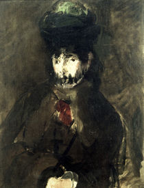 Berthe Morisot / Painting by Manet /1872 by AKG  Images