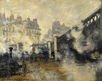 Monet / Le Pont de l'Europe / 1877 by AKG  Images