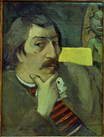 Self-Portrait with Idol / P. Gauguin / Painting 1891 by AKG  Images