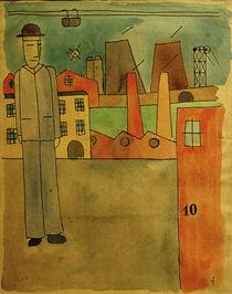 F.W.Seiwert, Mann mit Hut neben Fabriken von AKG  Images