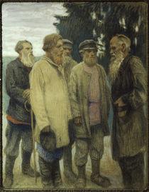 Leo Tolstoj mit Bauern / Pastell von Bogdanow-Bjelski by AKG  Images
