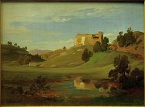 E.W.Pose, Italienische Landschaft mit breitem Tal by AKG  Images