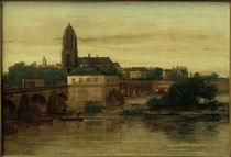 G.Courbet, Blick auf Frankfurt am Main.... by AKG  Images