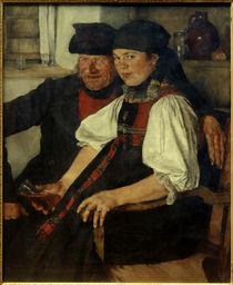 W.Leibl, Älterer Bauer und junges Mädchen by AKG  Images