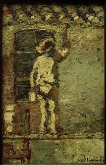 A.Monticelli, Anstreicher an einer Hauswand von AKG  Images