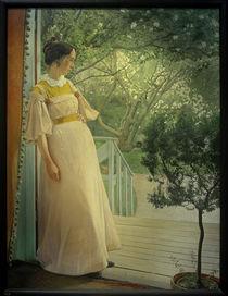 L.A.Ring, An der Verandatüre. Die Frau des Künstlers von AKG  Images
