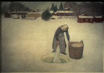 Pekka Halonen, Wäschewaschen auf dem Eis von AKG  Images