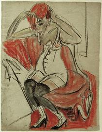 E.L. Kirchner, Mädchen auf violettem ... von AKG  Images