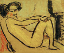 E.L. Kirchner, Liegendes Mädchen am ... von AKG  Images