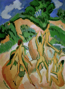 E.L.Kirchner / Bathers amidst Dunes by AKG  Images