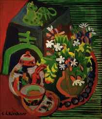 E.L.Kirchner, Still-life with porcelain by AKG  Images