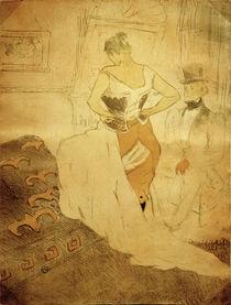 Toulouse-Lautrec, Femme en corset / Lith by AKG  Images
