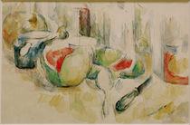 Cézanne / Still-life w. watermelon /c. 1900 by AKG  Images