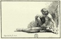 Rembrandt, Männlicher Akt am Boden von AKG  Images