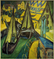 E.L.Kirchner, Hafen von Burgstaaken von AKG  Images
