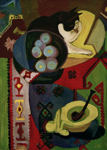 E.L.Kirchner, Still-life with cat... by AKG  Images
