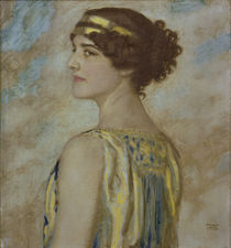 Franz v. Stuck / Daughter Mary as Greek by AKG  Images