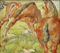 Franz Marc, Mare and Foals (Horses in the Morning Sun) by AKG  Images