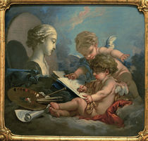F.Boucher / Allegory of Paint./ C18th by AKG  Images