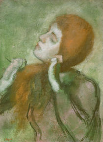 Degas / Woman combing her hair /  c. 1894 by AKG  Images