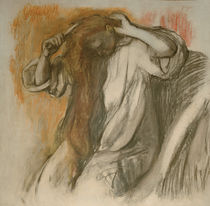 Degas / Woman combing her hair /  c. 1896 by AKG  Images