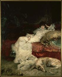 Sarah Bernhardt / Gemälde von G. Clairin von AKG  Images