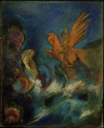 O. Redon, Roger und Angelika (Perseus und Andromeda) by AKG  Images