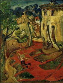 Ch. Soutine, Street in Cagnes / painting by AKG  Images