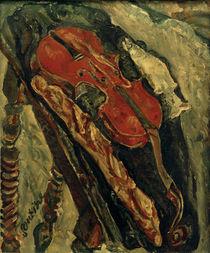 Ch. Soutine, Stillleben mit Geige, Brot und Fisch von AKG  Images