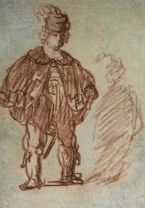 Rembrandt, Stehender Schauspieler von AKG  Images