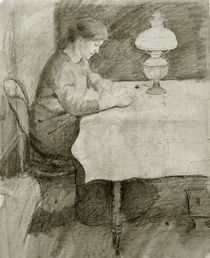 August Macke / Elisabeth Reading by an Oil Lamp by AKG  Images