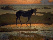 N.E.Kreuger, Pferd am Strand von AKG  Images